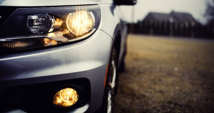 Headlight and fog light of a car