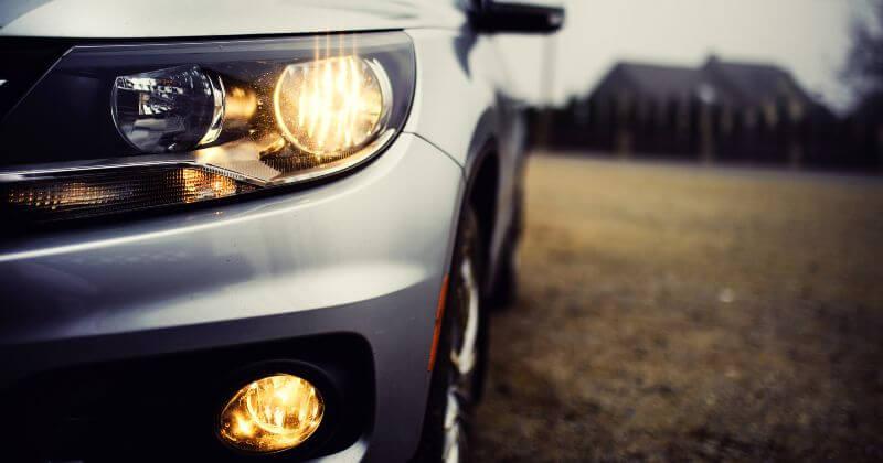 car headlight and fog light