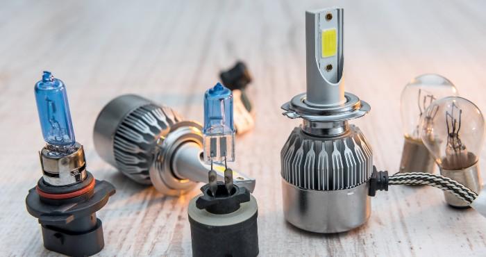 Halogen and LED headlight bulbs