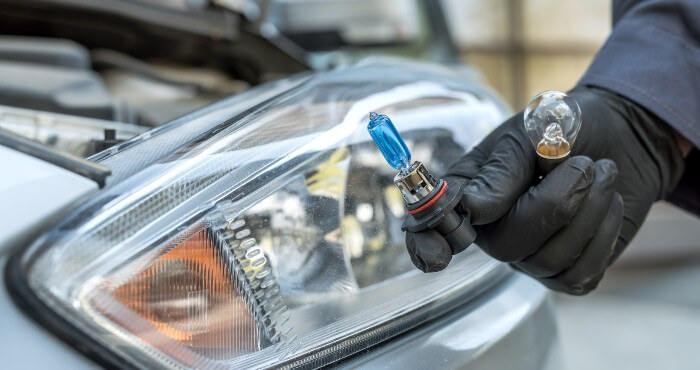 Holding bulb replacement for headlight