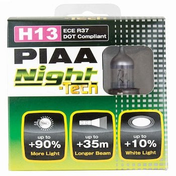 PIAA 10728 H13 (9008) Night Tech High Performance Halogen Bulb