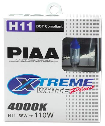PIAA 15211 H11 Xtreme White Plus High Performance Halogen Bulb