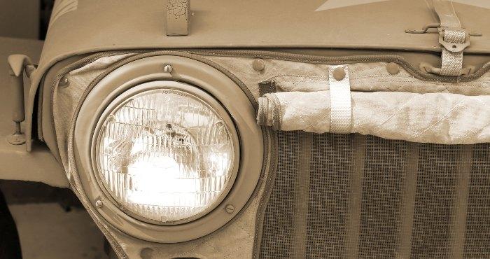 Headlight of a jeep