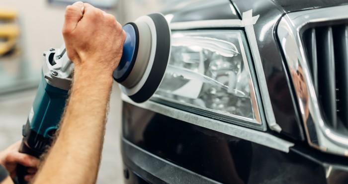 Auto Detailing Of Car Headlights