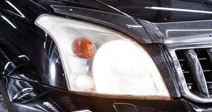 Bright Headlight Close Up