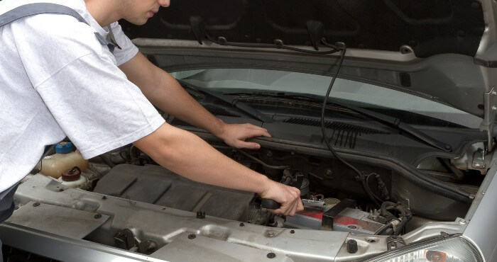 Disconnecting car battery
