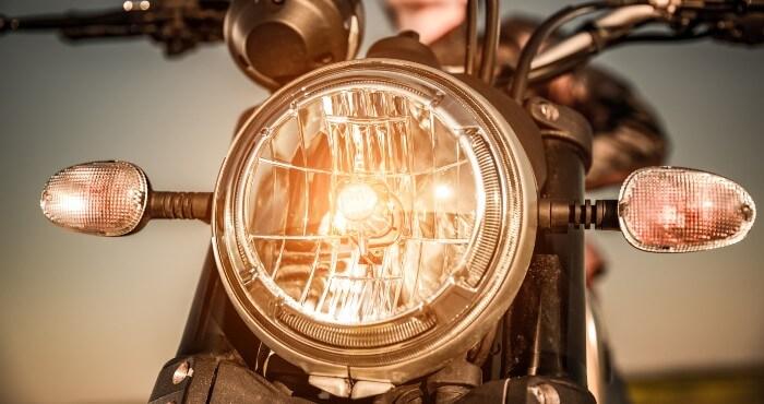 yellow motorbike headlamp